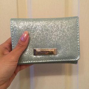 Tahari Shiny Baby Blue Wallet